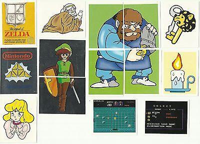 1992 MERLIN Nintendo The Legend of Zelda Stickers