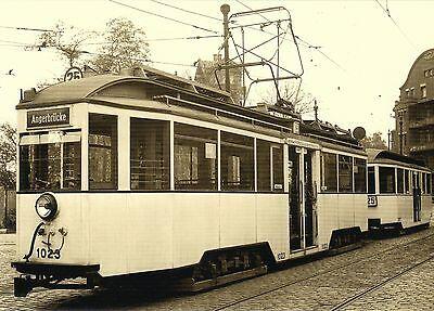 Ansichtskarte: historisches Motiv Niederflurzug 1023+2015 Leipzig Straßenbahn