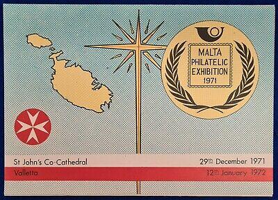 1971 Malta Philatelic Exhibition Presentation folder - First day of issue SHC
