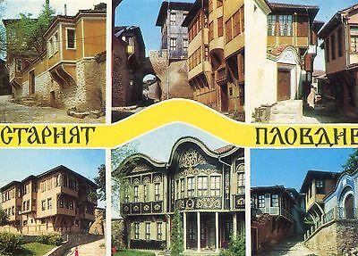 Alte Postkarte - Plovdiv - Die Altstadt