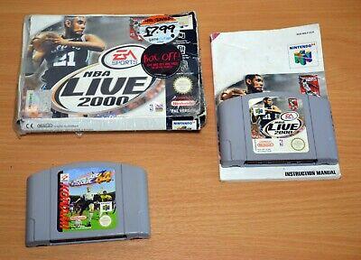 2 x N64 Games - NBA Live 2000 + International Superstar Soccer 64