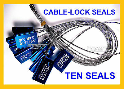 Cable-lock Security Seals Cargo Tanker Dark-blue All-metal Ten Seals