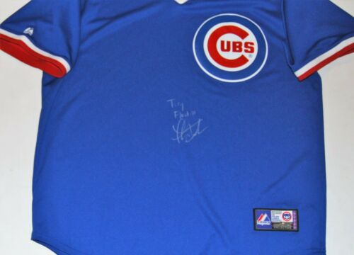 THOMAS IAN NICHOLAS signed (CHICAGO CUBS) Blue Rookie of the Year jersey W/COA