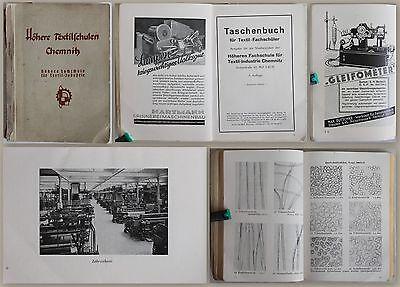 Taschenbuch für Textil-Fachschüler um 1943 Textilindustrie Weberei Technik xz