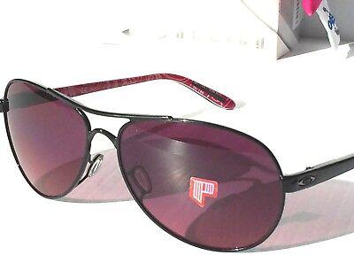 NEW* Oakley FEEDBACK Black Breast Cancer POLARIZED Rose lens Sunglass oo4079-15 (Breast Cancer Sunglasses)