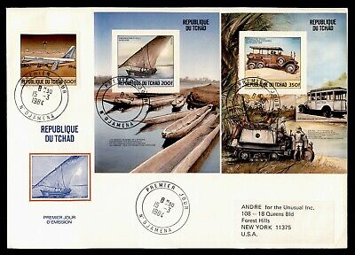 DR WHO 1984 CHAD FDC TRANSPORTATION S/S  LC240371