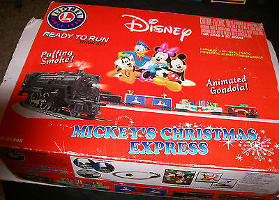 Rare LIONEL Mickey's Christmas Express Train # 6-31946 SET BOX ONLY, NO TRAINS!