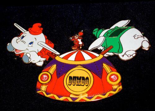 LE RARE JUMBO Disney Pin✿ Celebrating 50 Years Dumbo Elephant Ride Timothy Mouse