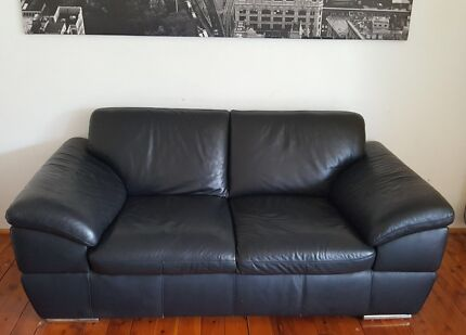 Two seater sofa leather
