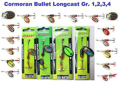 1 Spinner (Cormoran Bullet Longcast Spinner Blinker Gr. 1/2/3/4 Farbe wählbar Angeln)