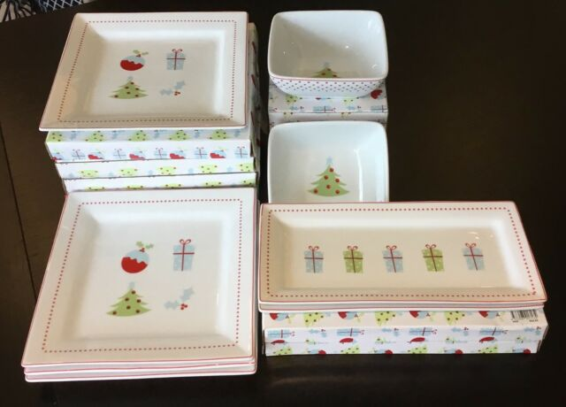 Christmas Bowls And Platters.Christmas Themed Plates Bowls And Platters Dinnerware