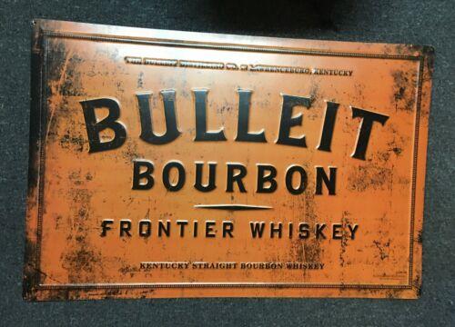 BULLEIT BOURBON FRONTIER WHISKEY LARGE TIN KENTUCKY