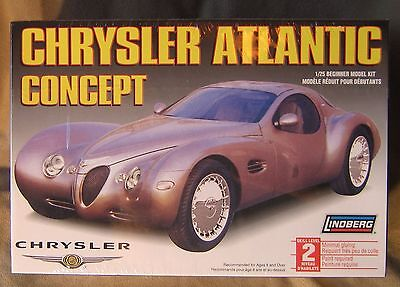 Lindberg Chrysler Atlantic Concept Car 1:25 Scale 72712 Model Kit New Sealed