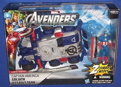Marvel Avengers Goliath Tank 2011 MIB Captain America Vehicle + 4