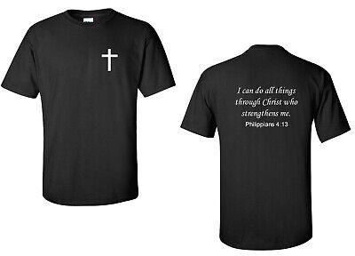 Philippians 4:13 T-Shirt Bible Verse God Jesus Christian Conservative Tee Shirt