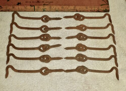 12 - Vintage Screen Door Style Hooks & Other Uses, Used & Rusty