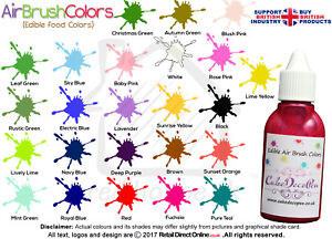 Air Brush Cake Decorating Edible Colours Paints - 20 ML White by Karen's