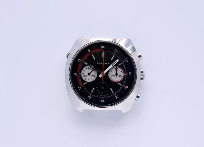Longines Chronograph Valjoux 72 Paul Newman Subdials Vintage Watch Sold AS IS - watch picture 1