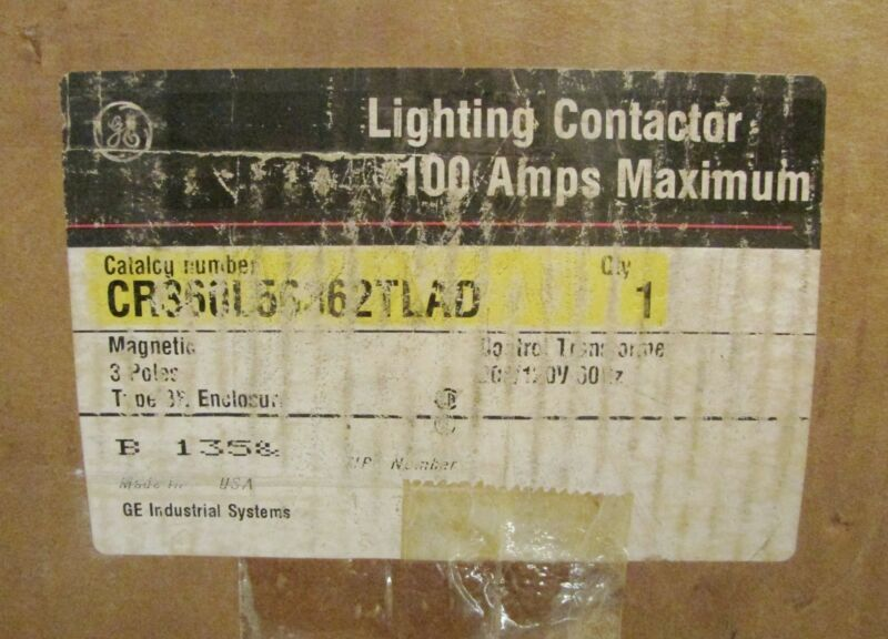 GENERAL ELECTRIC GE Lighting Contactor Nema 3R Enclosure CR360L56362TLAD