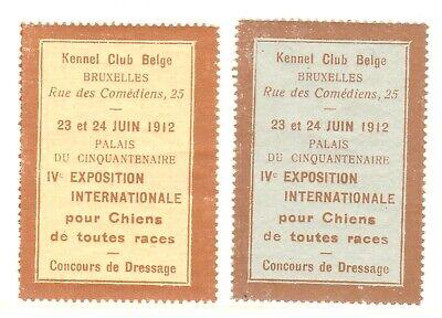KENNEL CLUB - BEIGE - EXPOSITION - 1912 -(63)- DOG SHOW - CINDERELLAS