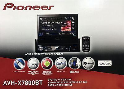 NEW Pioneer AVH-X7800BT Single DIN Bluetooth DVD/CD/AM/FM Car Stereo 7