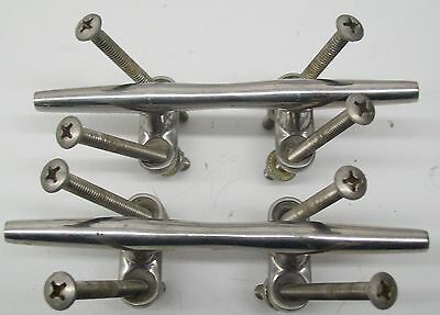 2000 Lowe Suncruiser Set Of Stainless Steel Cleats With Hardware   Nice Set