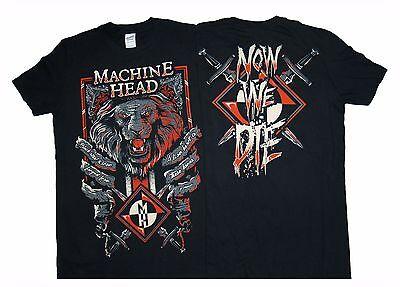 Lion Head Heart (MACHINE HEAD - Lion Heart - T SHIRT S-XL Brand New Official T)