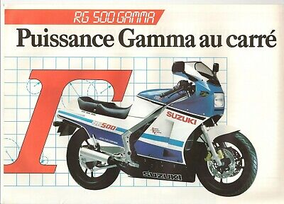 Suzuki RG500 Gamma French market sales brochure 1985 RG500G Gamma 500