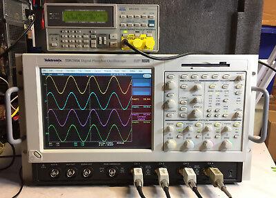 Tektronix Tds7054 Dpo Oscilloscope 4ch 500mhz 5gss Xp Ssd 3m Sm J2 Usb Cp2 Pw3