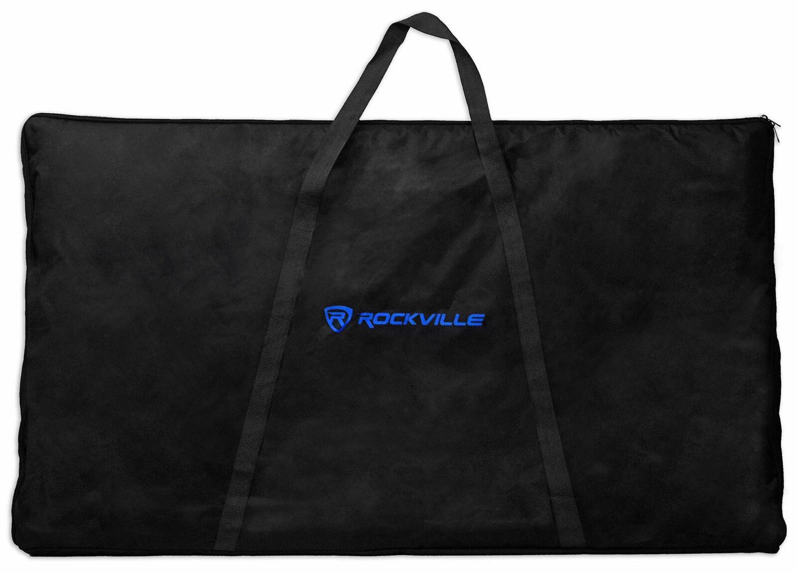 Rockville RFAAW DJ Event Facade 6-Panel Light Metal Frame Booth+Travel Bag+Scrim