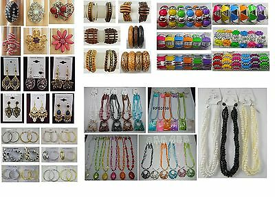 A-31 wholesale Jewelry lots 25 Pcs Mixed Earrings Bracelets Rings and Necklaces