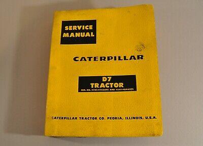 Caterpillar D7 Tractor Service Manual No.47a1-47a3395 48a1-48a6392