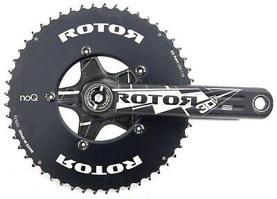 No Rings RoTor 3D Crankarms 110x5 Black//White 175mm