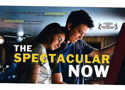 Shailene Woodley Signed The Spectacular Now 8X10 Photo