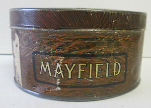 ANTIQUE-MAYFIELD-TOBACCO-TIN-ROCK-CITY-QUEBEC-CANADA
