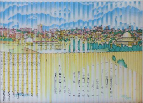 "Yaacov Agam  ""jerusalem"" Mobile Multigraph 1970 Hand Signed Framed"