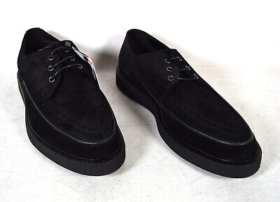 Zara Mens Wintip Black Suede Dressy Lace Up Shoes 43 NWT 10 US