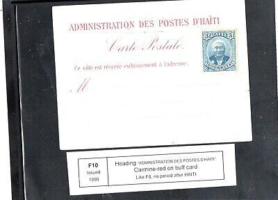 Haiti  - formula card F10-  Scott 23 added by PO - unused