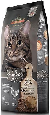 15 kg Leonardo Adult Complete 32/16 Katzenfutter + Edelstahlnapf gratis