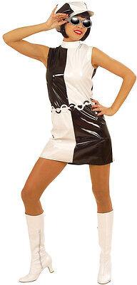 60er Jahre Chick Kostüm für Damen NEU - Damen Karneval Fasching Verkleidung Kost