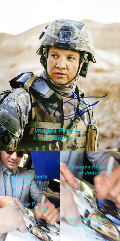 Jeremy Renner Signed Hurt Locker 8x10 Photo EXACT Proof Avengers Hawkeye