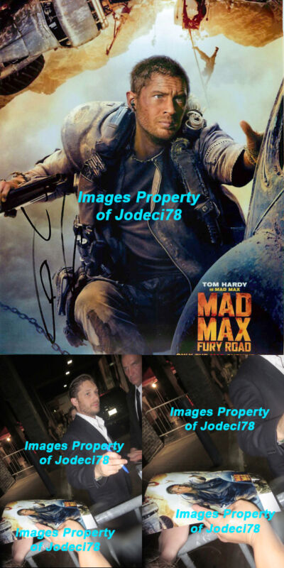 Tom Hardy Signed Mad Max Fury Road 8x10 Photo EXACT PROOF Venom Batman