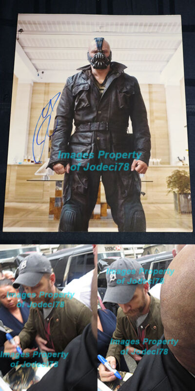 Tom Hardy Signed Batman Bane 11x14 Photo EXACT PROOF Venom