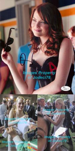 *SEXY* Emma Stone Signed Easy A Lingerie 8x10 Photo Proof JSA COA Favourite