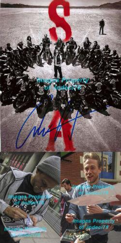 *JAX TELLER* Charlie Hunnam Signed Sons of Anarchy 8x10 Photo PROOF JSA COA C