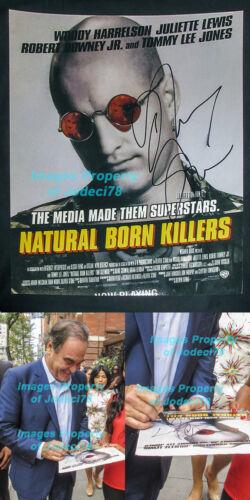 Oliver Stone Signed NATURAL BORN KILLERS 11x14 Photo EXACT Proof COA