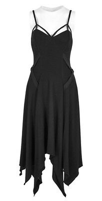 Witchy Witchy (Punk Rave Insomnium Black Handkerchief Dress Gothic Witchy Summer)