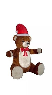 7 Ft Teddy Bear (Huge  7 Ft Holiday  Hugging Teddy Bear Blow Up Inflatable Christmas)