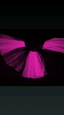 Uv Hot Pink black stripe Tutu Skirt Women Teen Girl Clubwear Halloween Christmas](Hot Pink And Black Tutu)
