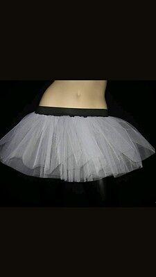 Plus Size White Tutu Skirt Rave Clubwear Dance Party Bride christmas Wedding Emo - Adult Plus Size Tutu